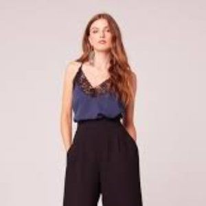 Band of Gypsies Bonsoir Lace Trim Camisole Top